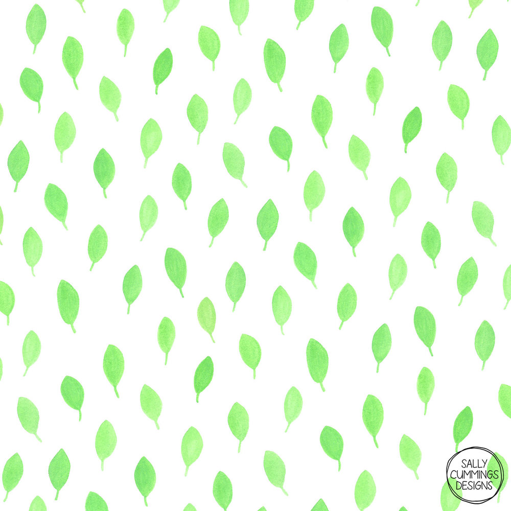 Sally Cummings Designs - Floating leaves pattern