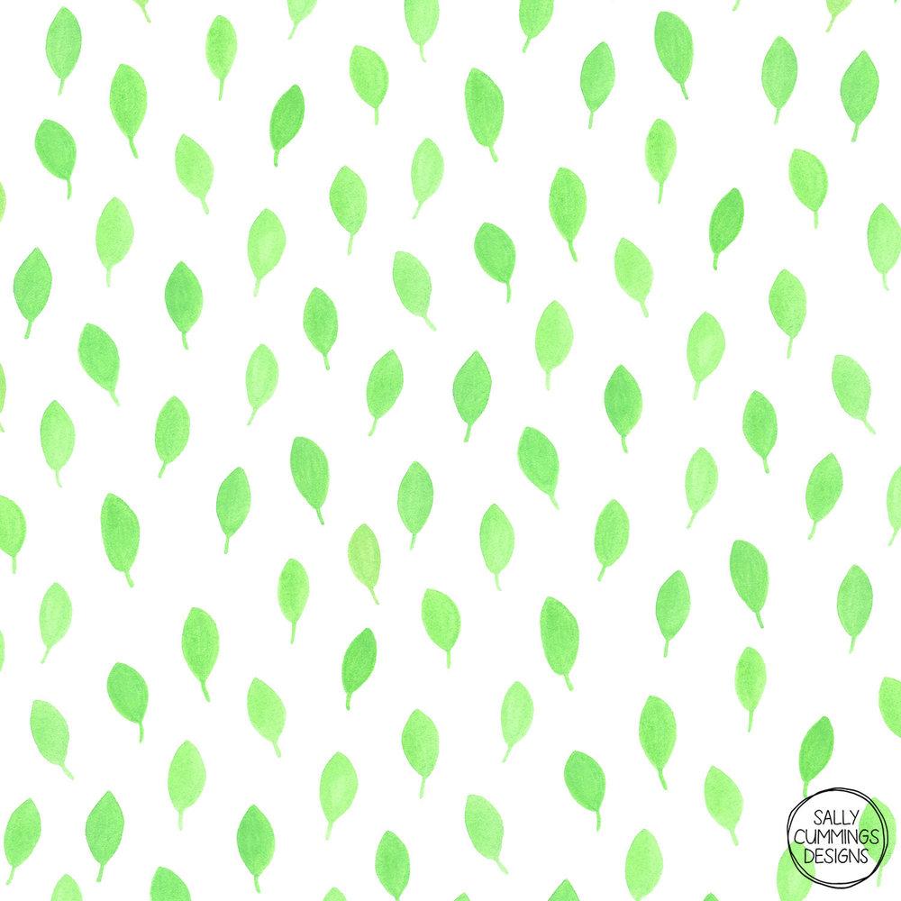 Sally Cummings Designs - Floating Leaves Pattern