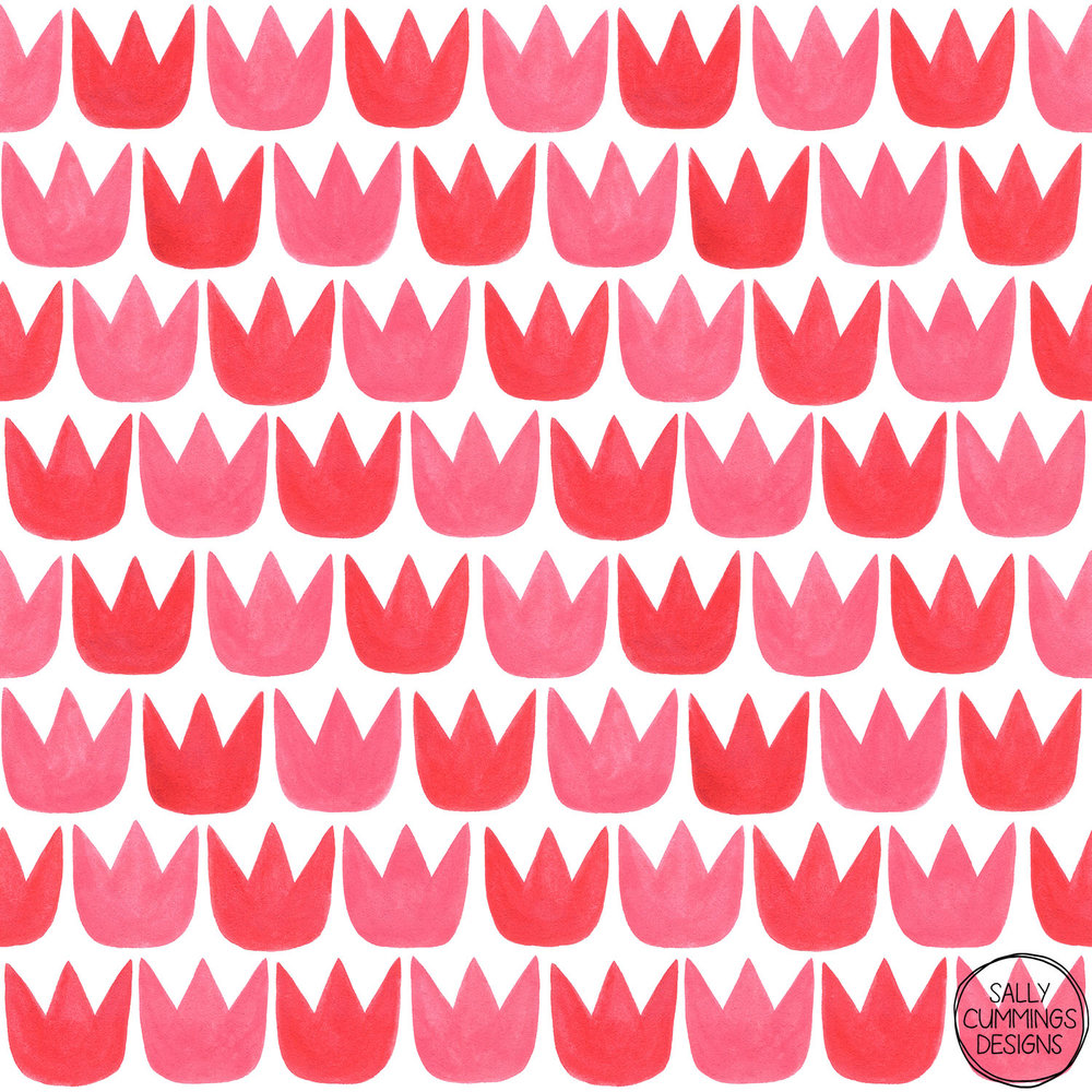 Tiptoe Tulips Pattern