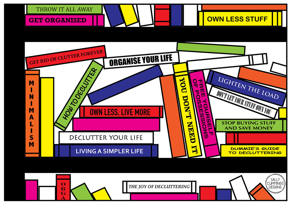 Sally Cummings Designs - Pop Art Bookshelf