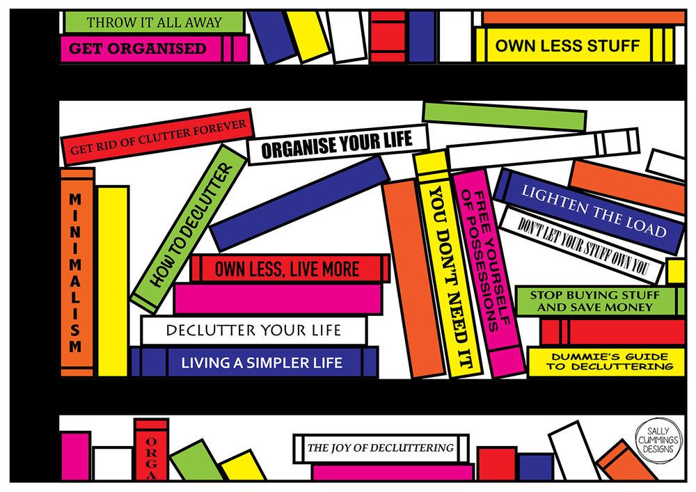 Sally Cummings Designs - Pop Art Bookshelf