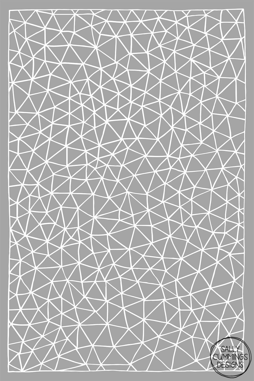 Sally Cummings Designs - Connectivity design (white on grey)