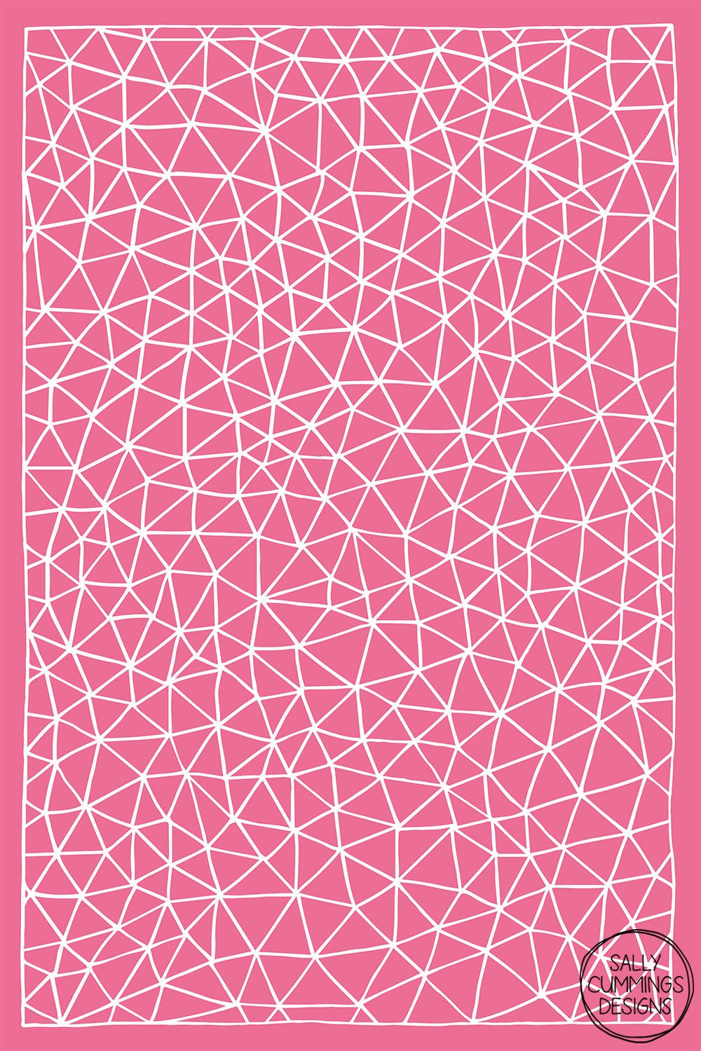 Sally Cummings Designs - Connectivity design (white on pink)