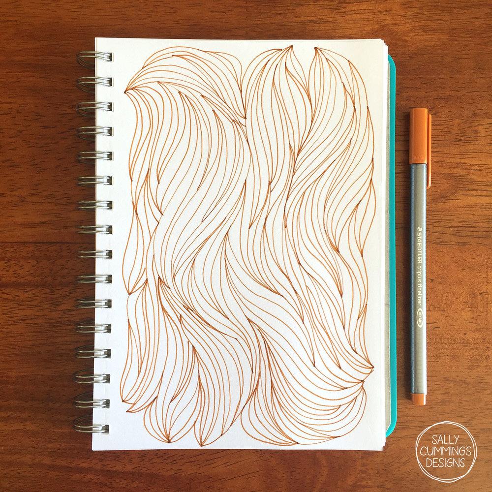 Sally Cummings Designs - Haircut sketchbook page