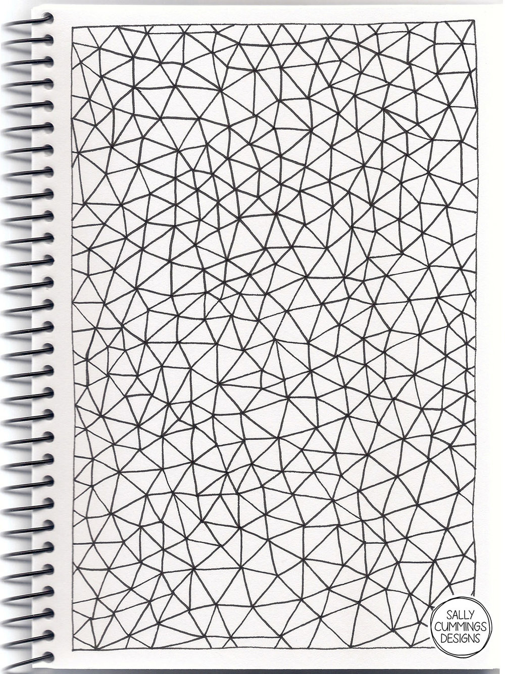 Sally Cummings Designs - Connectivity sketchbook page