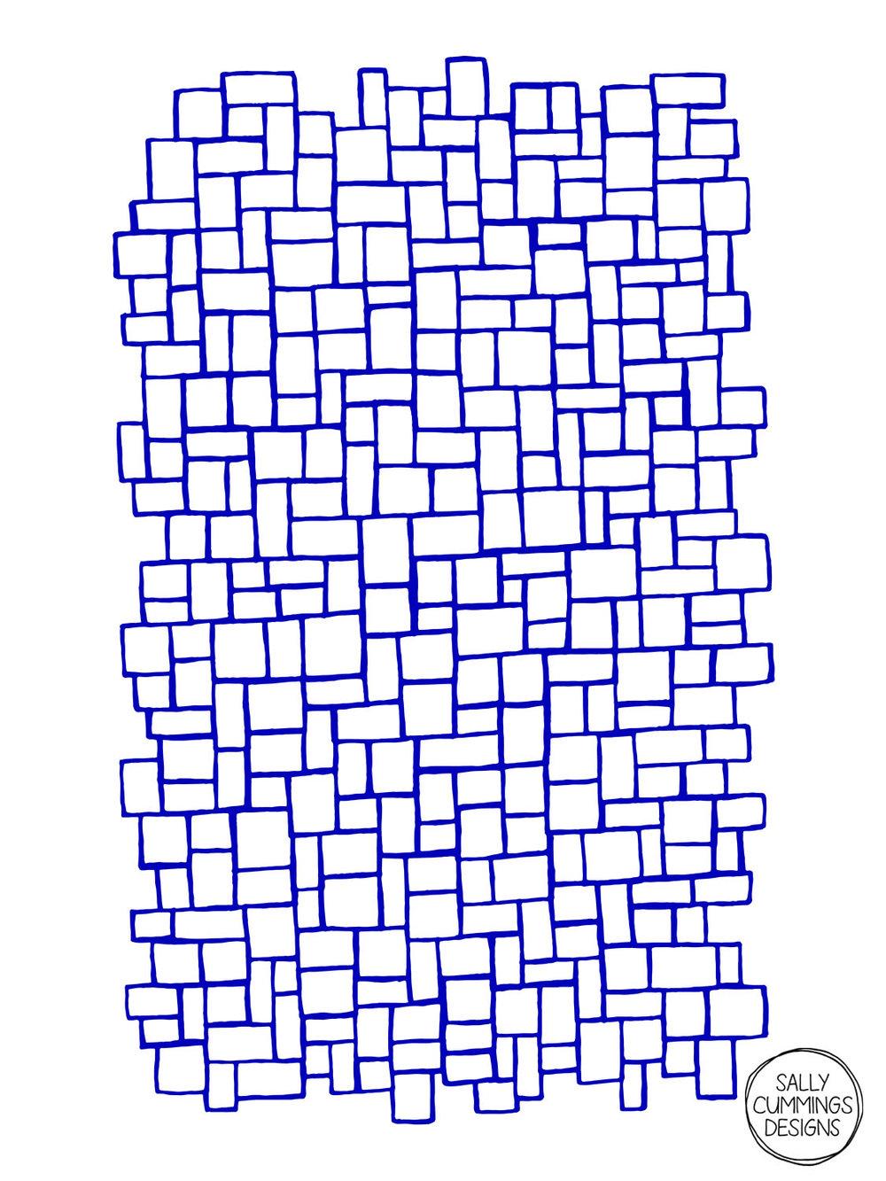 Sally Cummings Designs - Blue Blocks