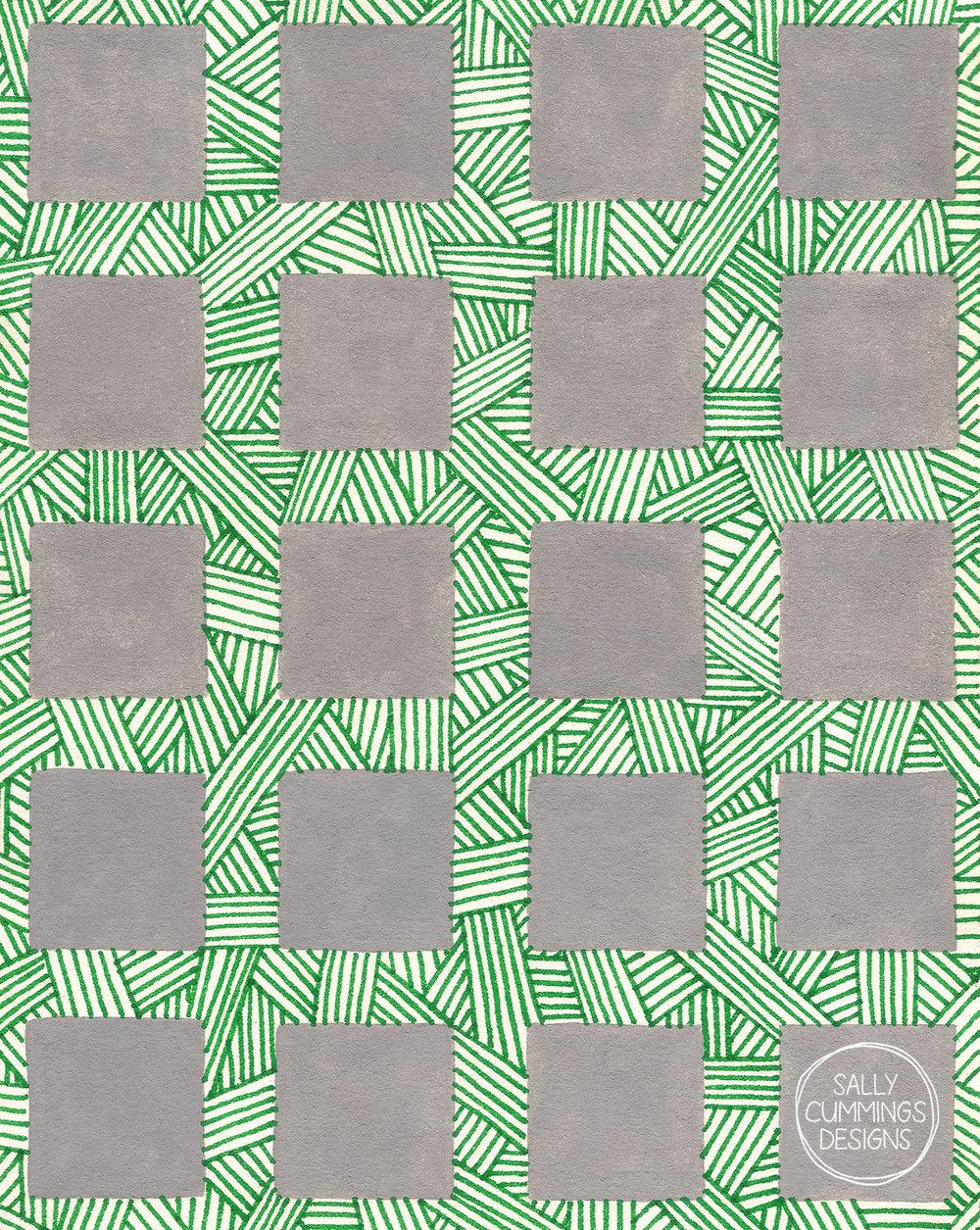 Sally Cummings Designs - Mondo Grass and Pavers