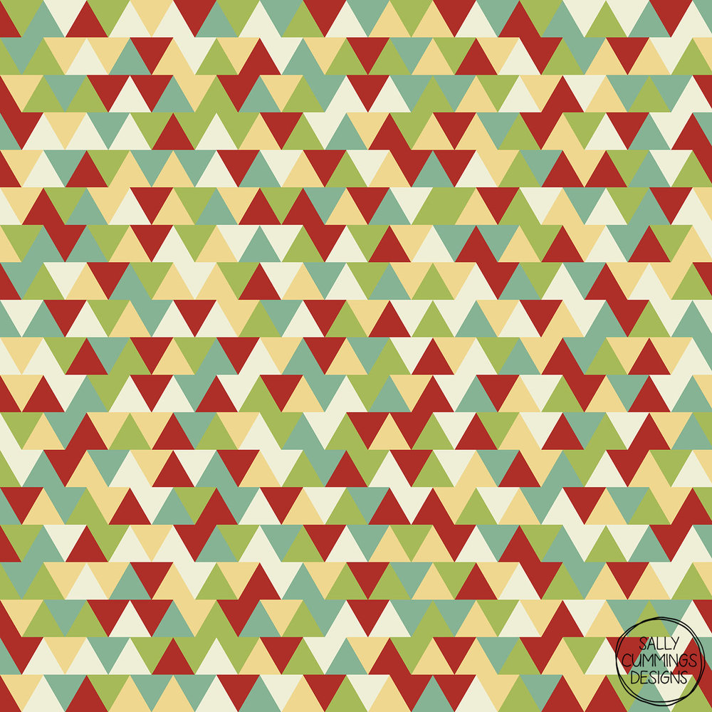 Sally Cummings Designs - Christmas triangles pattern
