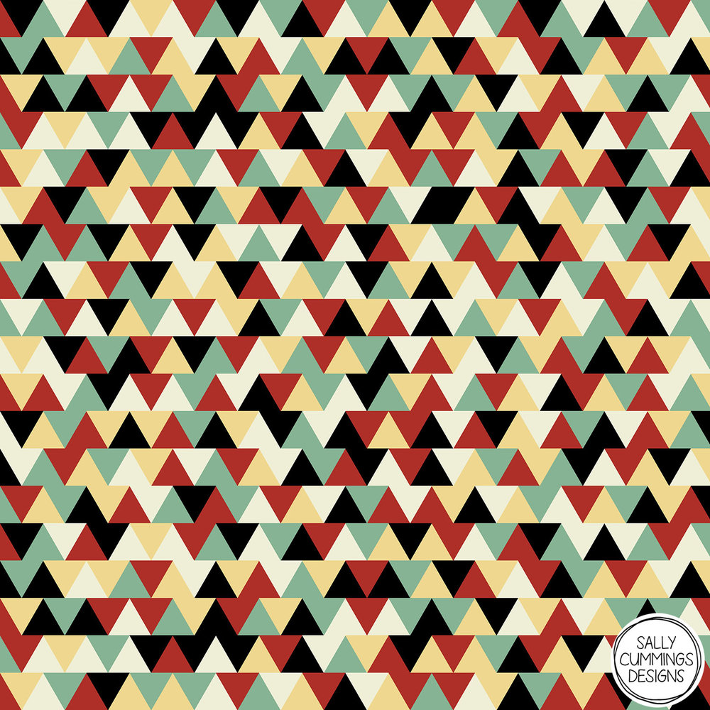 Sally Cummings Designs - Linoleum triangles pattern