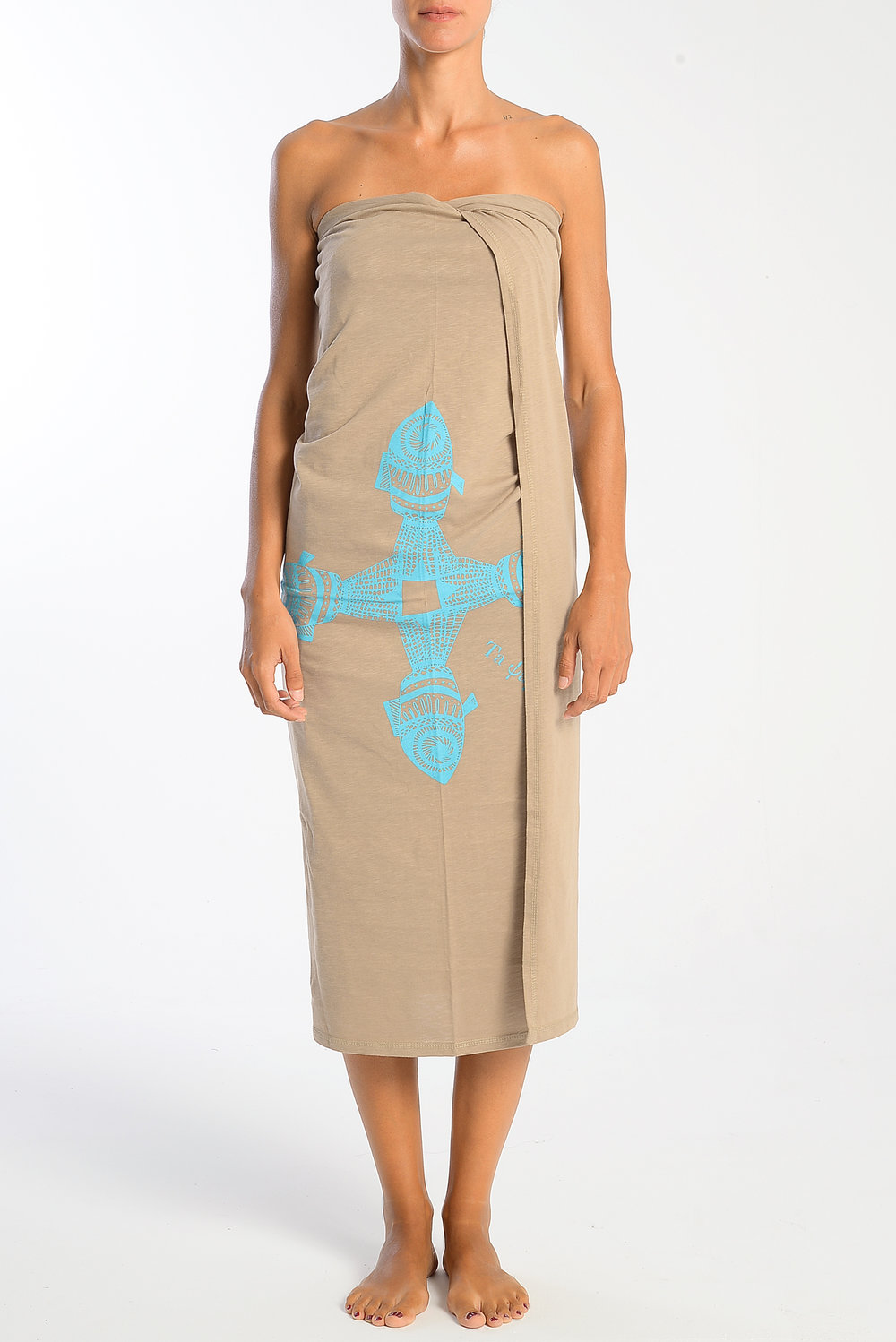 fish-turquoise-print-on-beige-cotton-pareo-wrap-strapless-dress.jpg
