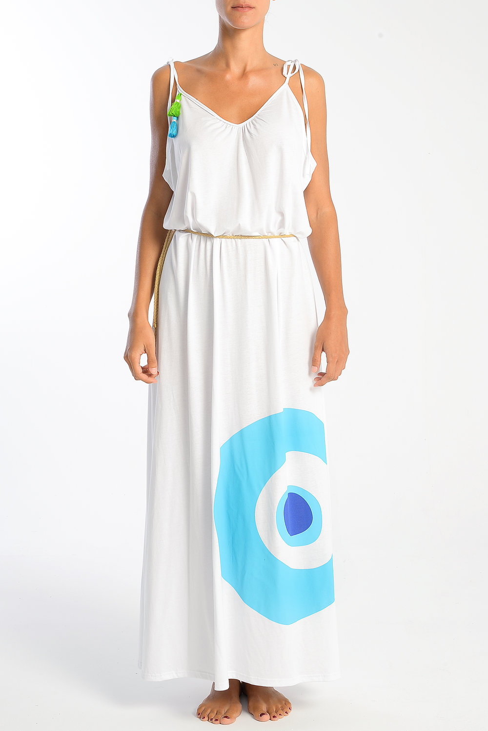 evil-eye-turquoise-blue-on-white-long-strap-dress-cotton-with-belt.jpg