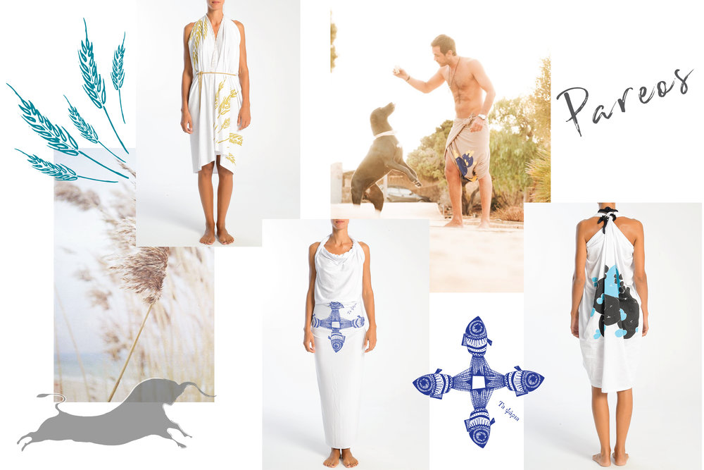 THE COLLECTION-PAREOS - Create your summer wardrobe with just one Pareo! All designs are inspired from summer in Greece (the Greek culture and lifestyle). Enjoy your summer days and update your summer wardrobe with our inspirational Greek designs.
