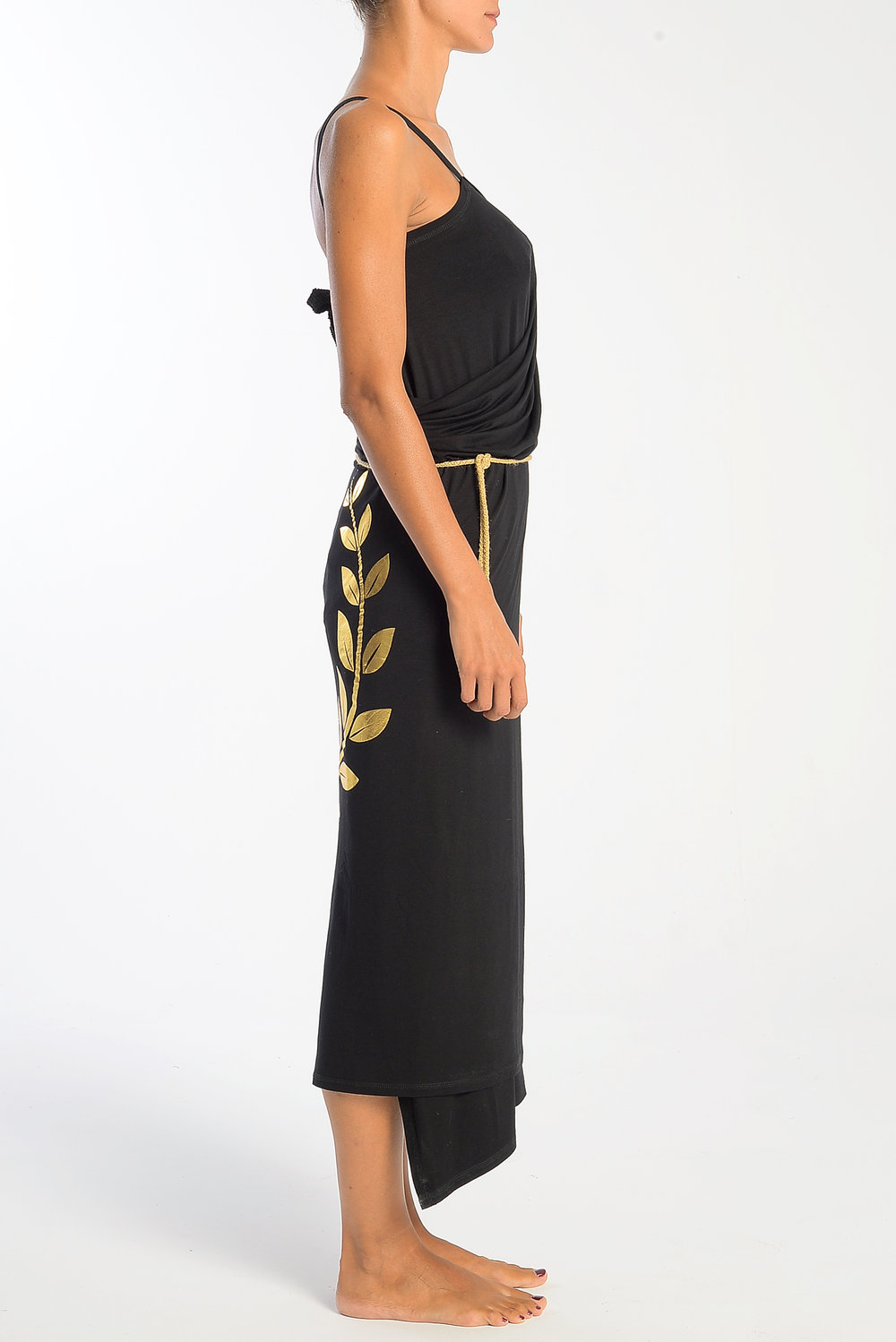 wrap-pareo-dress-golden-foil-olive-wearth-front-side-right.jpg