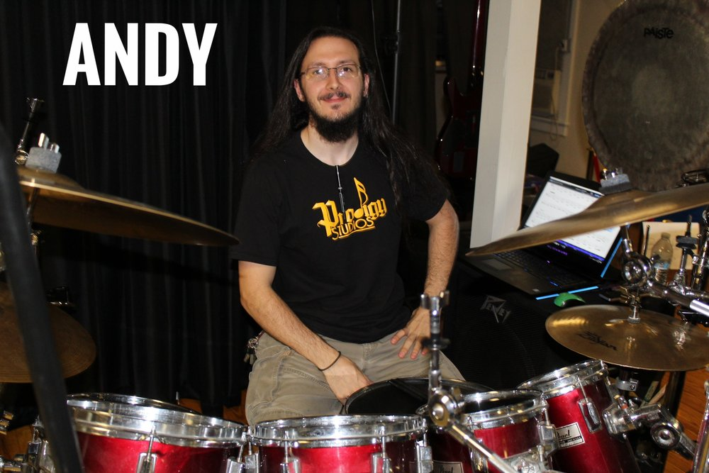 Andy is our drum instructor. He has over 10 years experience playing and repairing drums, guitars and electronics of all sorts.   Favorite Movie: The Matrix