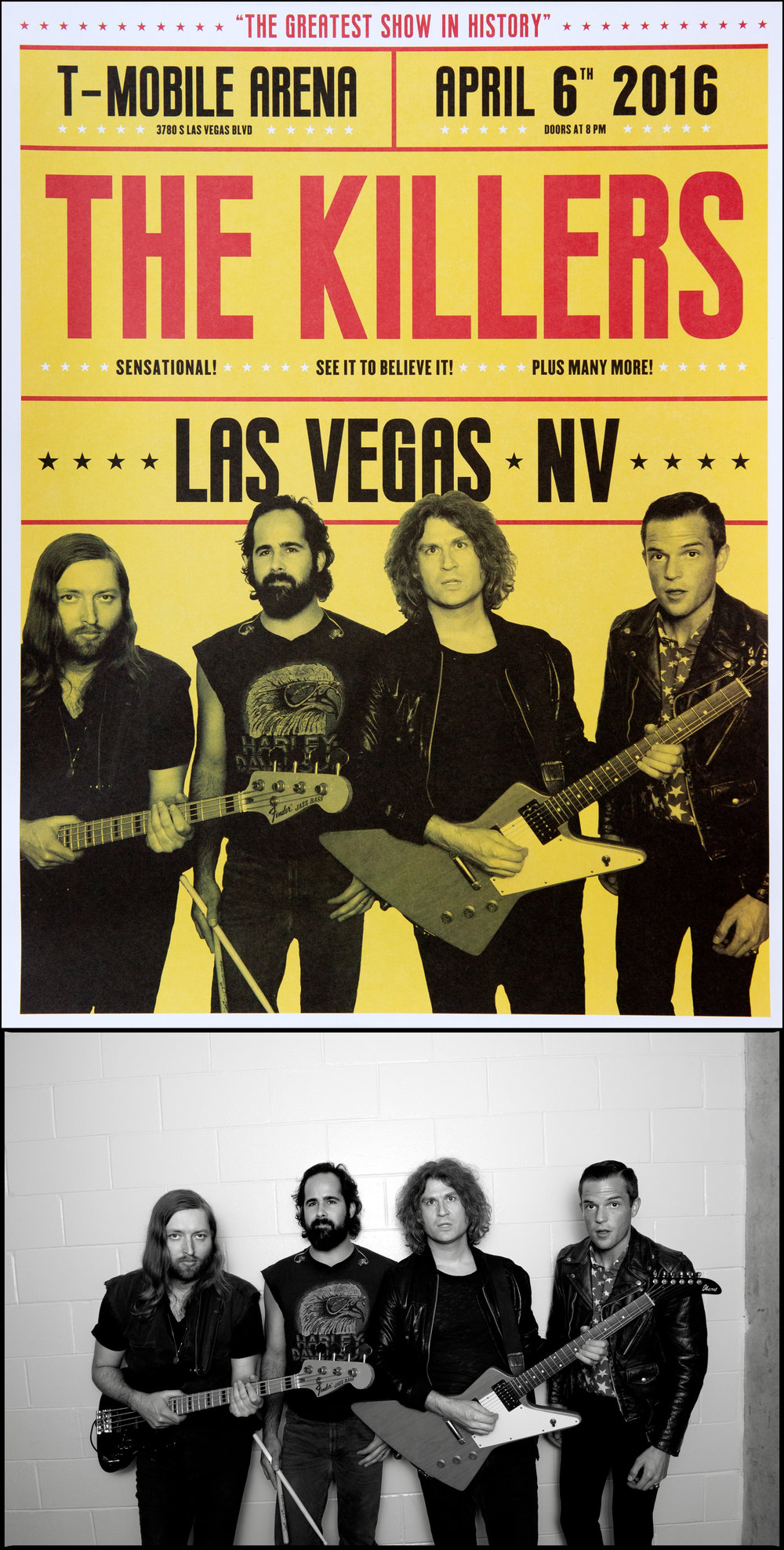 The Killers, for T-Mobile Arena opening show, Las Vegas