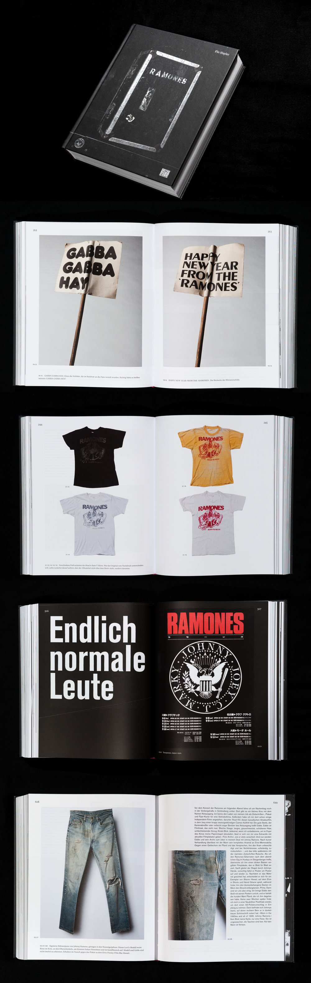 "Photography of artifacts and memorabilia from the Ramones Museum Berlin  for Flo Haylers book about ""The Ramones""   Photography  by Erik Weiss   Design  by Ta-Trung Berlin   Published  by Heyne Hardcore"