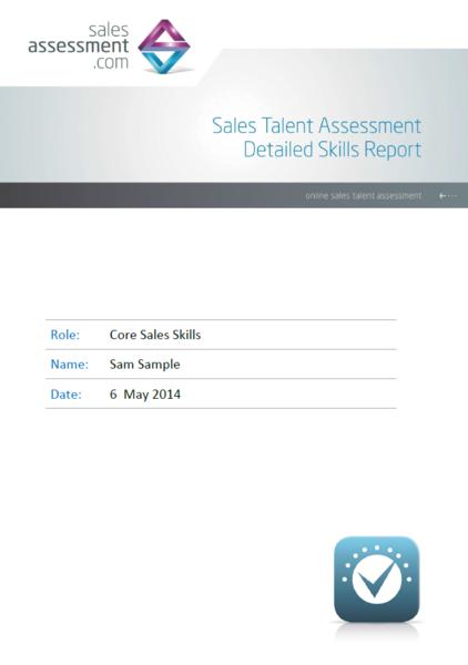 sales core skills assessment