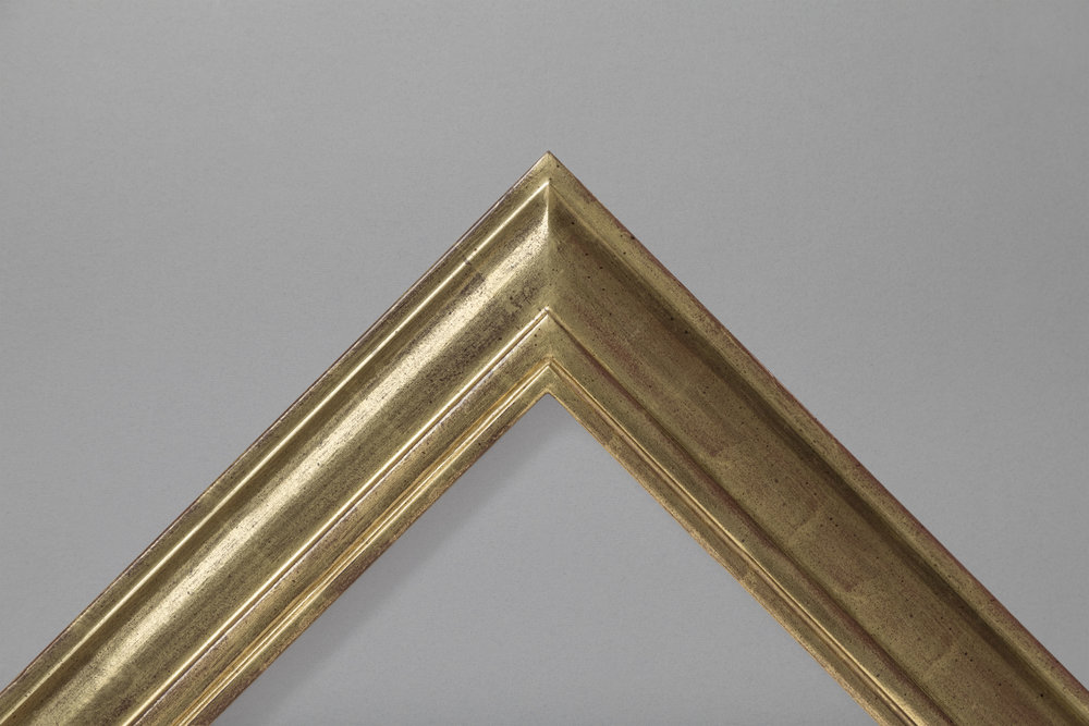 Gold leaf wide cushion and groove