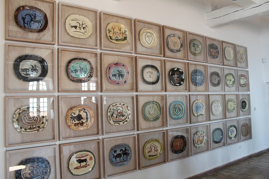 Picasso Plates. Musée Picasso, Antibes, Provence, France