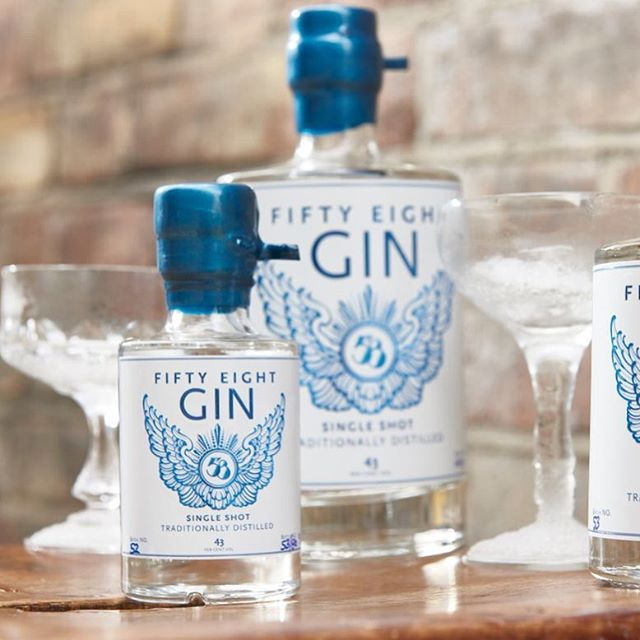 A fresh picture of @58gin with the logo we designed.  #gin #58gin #logo #graphic #wings #design #designlondon #drinklabels #angel #angellondon