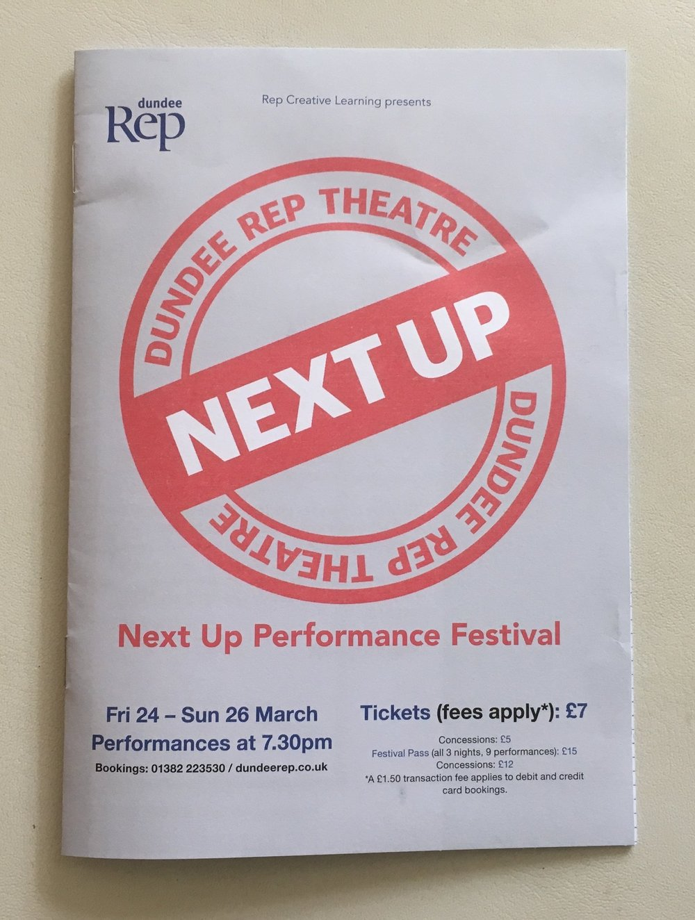Next Up Youth Festival | Dundee Rep 2017