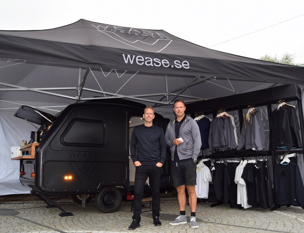 Fredrik Persson and Björn Lind inside Wease own Pop Up Store.