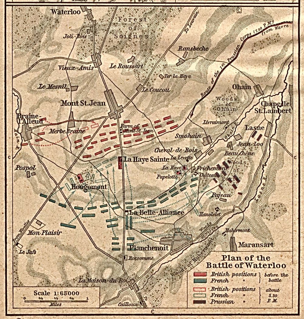 Battle Plan of Waterloo