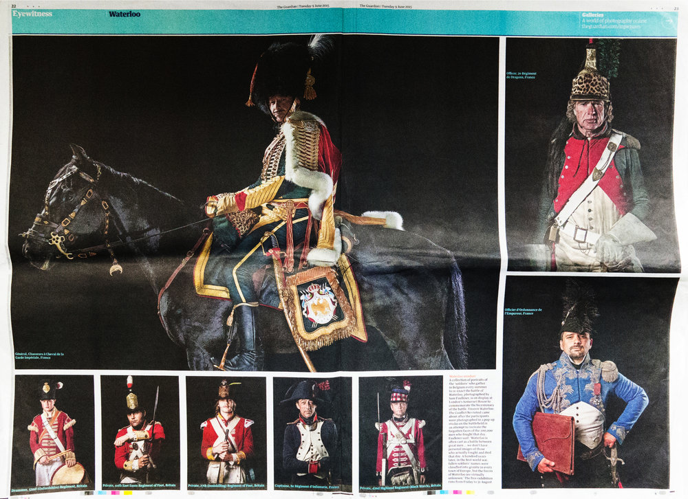 The Guardian  The Guardian's double page spread on the Unseen Waterloo Exhibtion