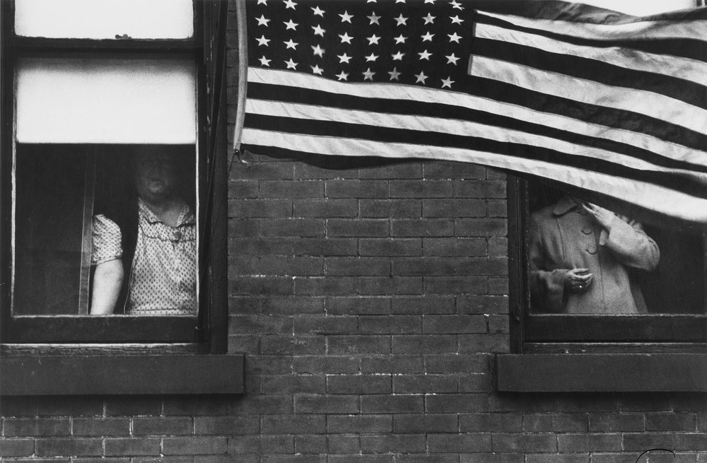 Picture by Robert Frank -  The American The photographs were notable for their distanced view of both high and low strata of American society.