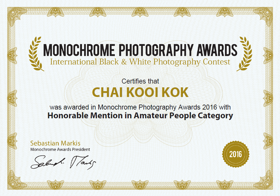 Monochrome award 2016 honorable mention