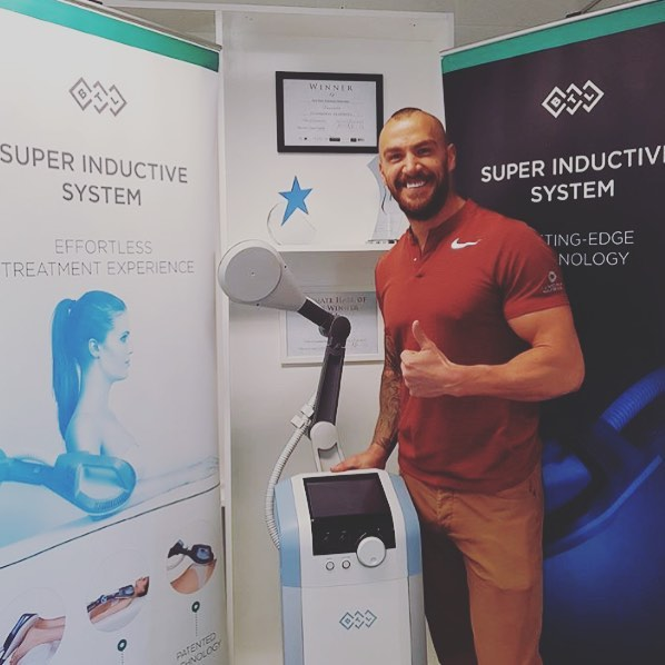 The lovely @bradpearmain tried the @btlaestheticsuk #SIS treatment before the UK golfing championships 🏌 #PR #golf