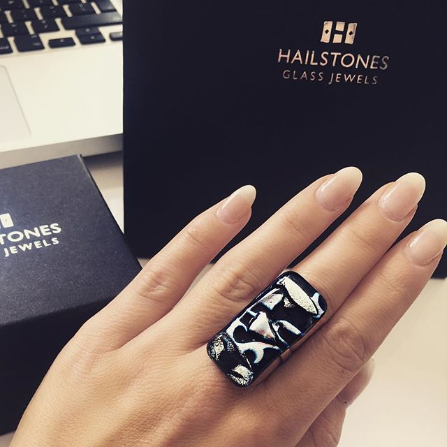 Working on sharing the story of @hailstonesglass today - so we're wearing a little inspiration. #glassjewellery