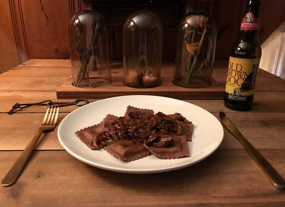 Valicenti Pasta Farm's Cheddar Stout Ravioli