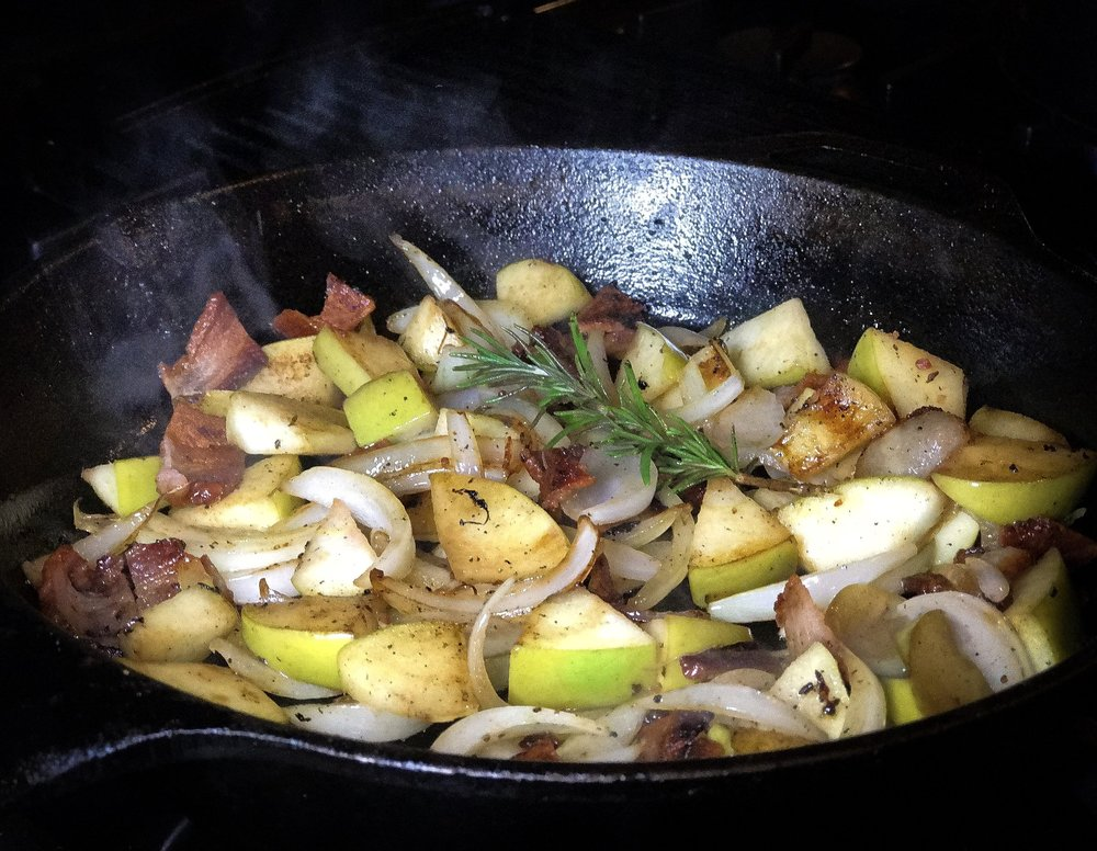Valicenti Pasta Farm's Caramelized Apple, Onion, & Bacon Recipe