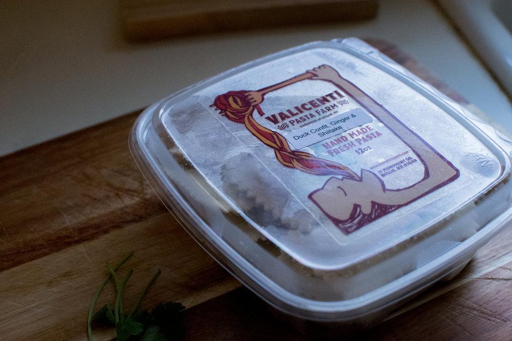 Valicenti Pasta Farm's Duck Confit w/ Shiitake & Ginger Ravioli