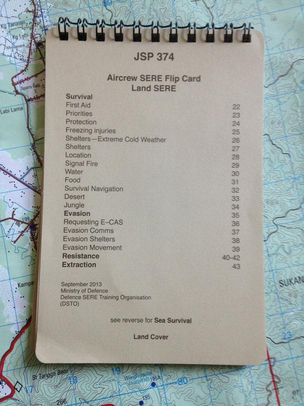 JSP 374 SERE Flipcards