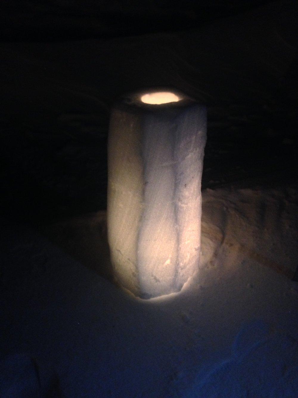 Snow Candle Lantern