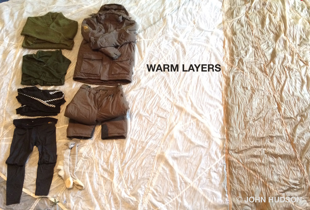 Warm layers trap pockets of air