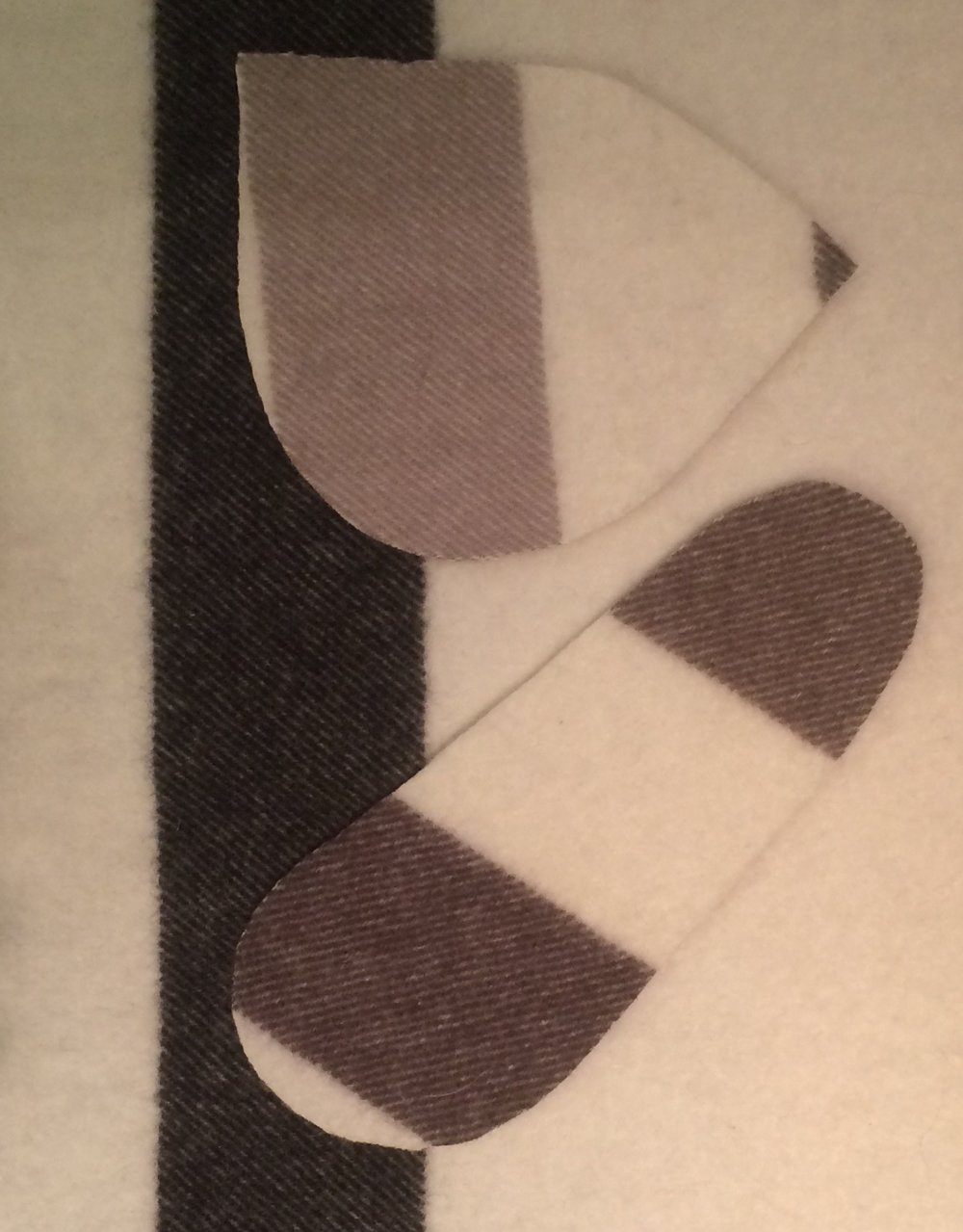 Hudson Bay blanket mukluk liners