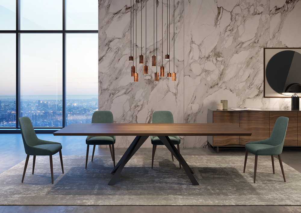 A Hybrid Ambiance That Combines A Sublime Sideboard, With Curves And  Softness Derived From The Lacquer, With A Sober And Imposing Iron Feet Dining  Table And ...