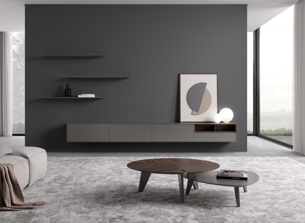 Two Coffee Tables With Lacquered High Gloss Finish (L18). One Of Them With  Veneered Top (M07). Part 92
