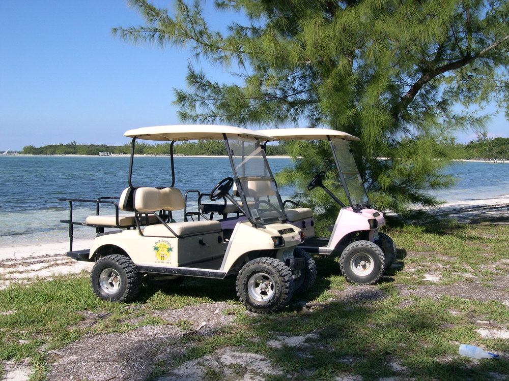 Golf Carts on Coco Bay