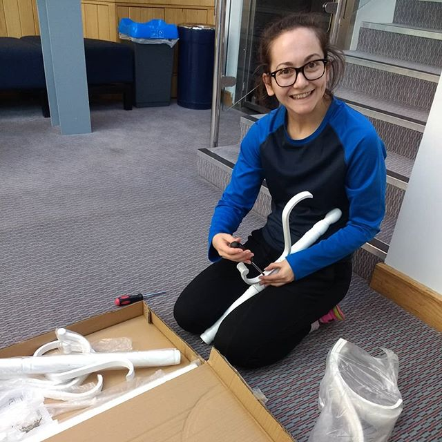 Rachel is doing some warm up for today's tech for #thisisnotawedding by honouring our Swedish heritage and doing some IKEA assembling of furniture. Look out for a well put together coat stand on stage if you're coming to see us tomorrow!  This Is Not A Wedding Riley Theatre Thursday 1 November, 7:30pm  #diy #behindthescenes #womendoingitforthemselves #techprep #techday #performance #leedsart
