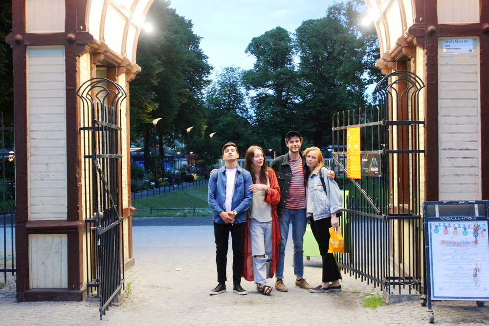 Ingången till folkets park.