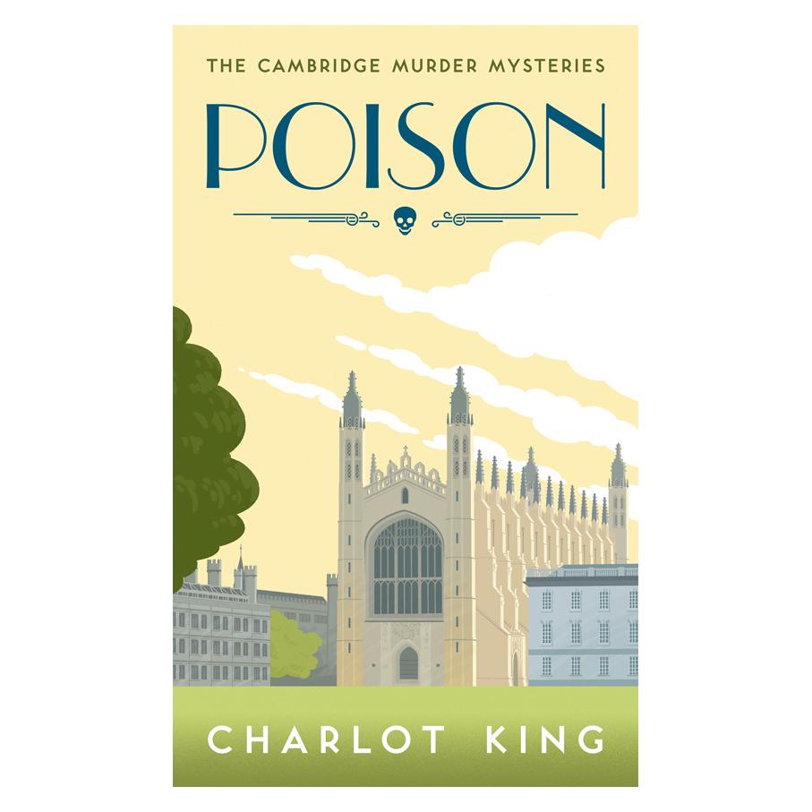 Poisonretro book jacket for crime novel