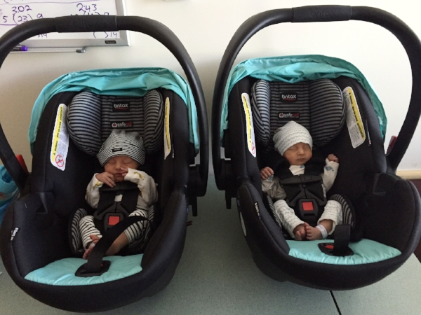 SO tiny in their carseats!!