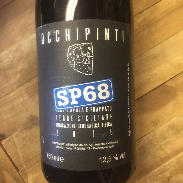 "#wineoftheweek #occhipinti #sp68 #terresiciliane #frappato #nerodavola ****10% OFF through 9/23**** 🍇 😋 ""Dark ruby in color. Bright floral aromas, complimented by hints of dried herbs and spicy red berries. Fresh, bright and lovely on the palate, with blackberry, raspberry, and delicate herb flavors. Complex and multilayered, it finishes long, mineral and juicy."""