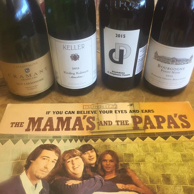 Our World Wine Tour 🌎 🍷 continues with some great wine and some great vinyl! 3-7PM @citywinedenver it's #vinoandvinyl #guylarmandier #keller #benedictestephanetissot #genotboulanger #mamasandpapas #ifyoucanbelieveyoureyesandears