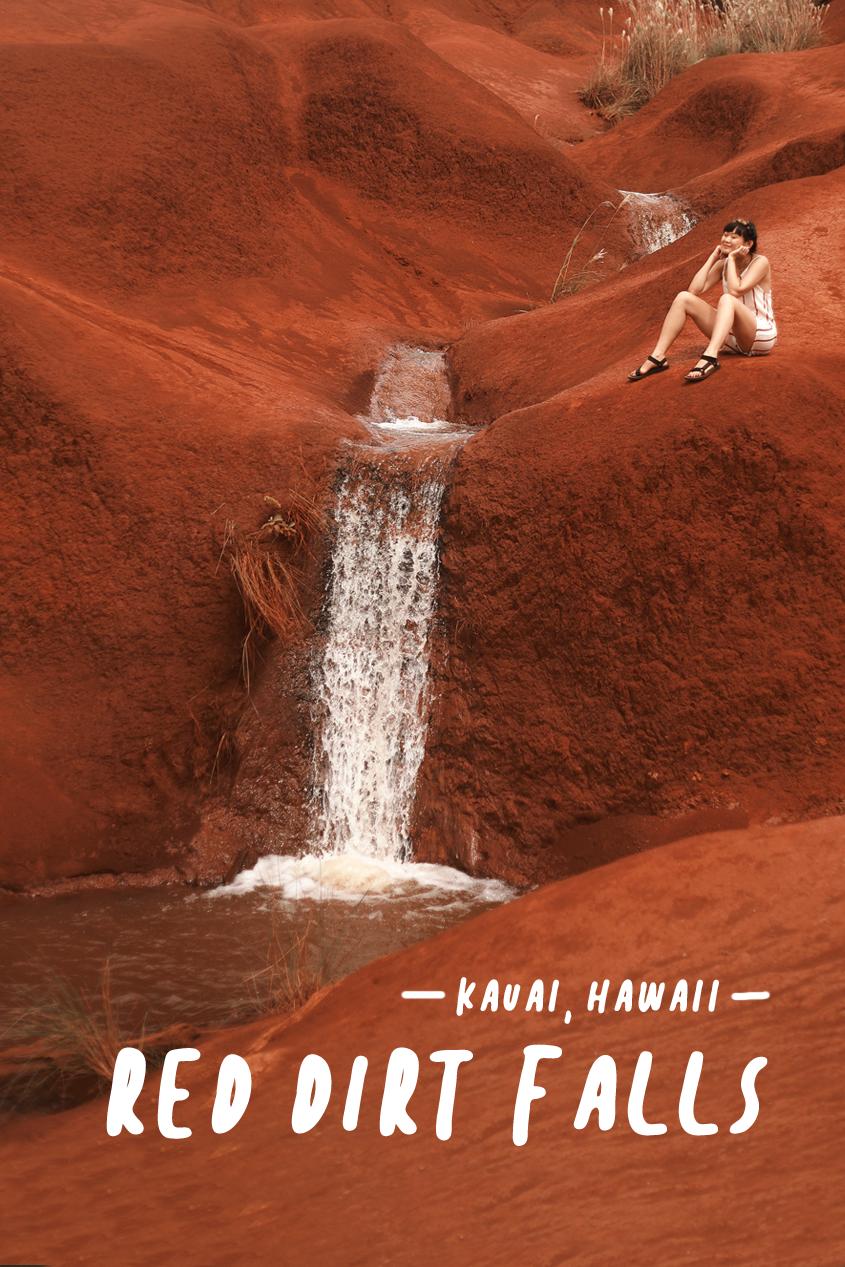And Away We Went Travel Blog   Kauai, Hawaii   Red Dirt Falls   Easy Hikes   #Wanderlust
