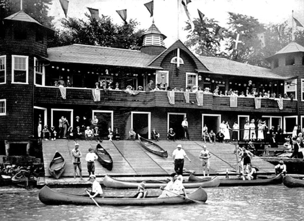 Washington Canoe Club at regatta time historical.jpg